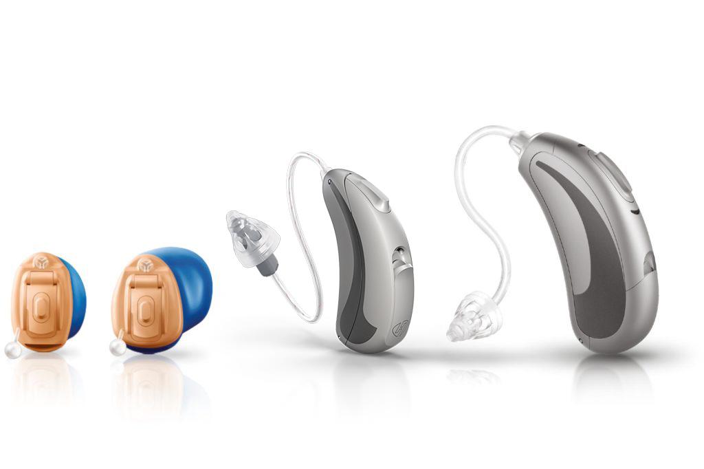 Bid zeigt die unterschiedlichen Hörsystem Bauformen